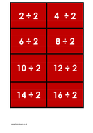 44 Times Tables Matching Cards