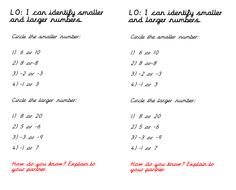 Negative Numbers Year 4 by charliyuk | Teaching Resources