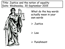 Underlying principles of justice