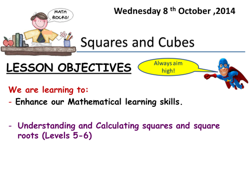 Square Roots by ingywagih Teaching Resources TES – Estimating Square Roots Worksheet