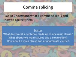 Comma Splicing