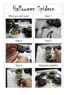 Instructions - Spider biscuits for Halloween