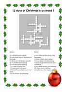 12 days of Christmas crossword.docx