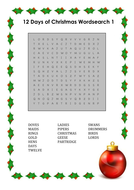 Christmas wordsearches