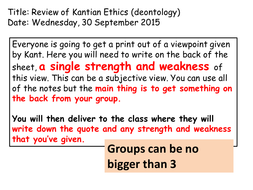 Kantian ethics with W.D Ross