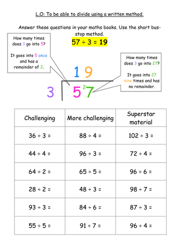 Written Multiplication Worksheets & multiply numbers up to 4 ...
