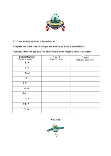 Rhyming Couplets Worksheet Ks1 Excel Multiplying And Dividing Decimals By  And  By Laurawigley  Grade 1 Printable Math Worksheets with Identifying Prepositions Worksheet Multiplying And Dividing Decimals By  And  By Laurawigley  Teaching  Resources  Tes Decimal To Fraction Worksheet Excel