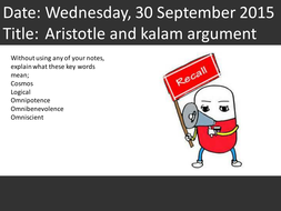 Aristotle and the Kalam argument