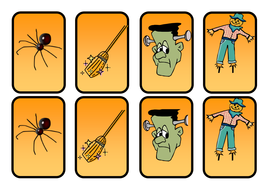 halloween pairs, matching and small flash cards.pdf