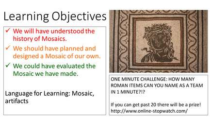 Drawn to Art: Mosaics