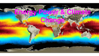 Energy Power and Climate Change - IB Topic 8