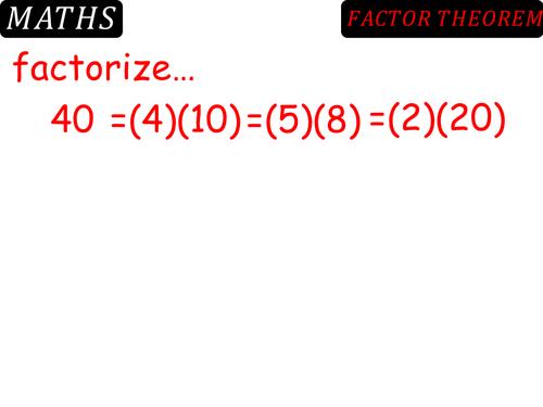 Pronoun Quiz Worksheet Pdf The Factor Theorem By Danbar  Teaching Resources  Tes English Comprehension Worksheets For Grade 2 Pdf with Maths Worksheets For Grade 4 Excel  The Good Samaritan Worksheets