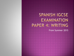New CIE IGCSE Paper 4 Writing  (from June 2015)