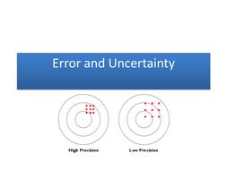 Uncertainty in Scientific Measurement