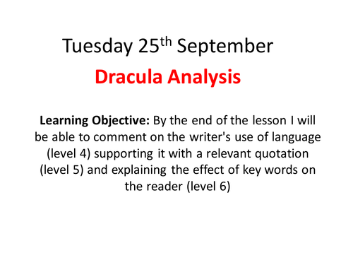 teaching expository essay what are some different types of literary analysis on dracula