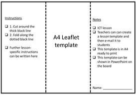 Leaflet template by rs007 teaching resources tes leaflet templatepdf leaflet templatepptx maxwellsz