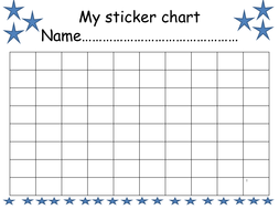 Sticker collector chart by pringc teaching resources tes