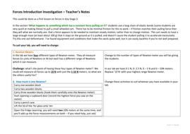 Forces introduction investigation KS3