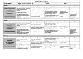 Writing  Record Sheet Towards 5b.docx