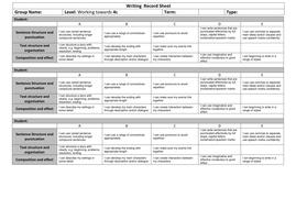 Writing  Record Sheet Towards 4c.docx