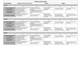Writing  Record Sheet Towards 5c.docx