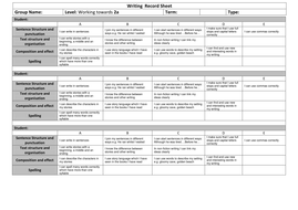 Writing  Record Sheet Towards 3c.docx