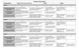 Writing  Record Sheet Towards 5a.docx