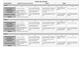 Writing  Record Sheet Towards 2a.docx
