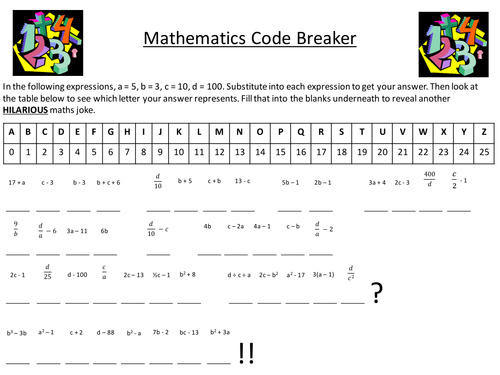 Cell Worksheets For Kids Pdf Maths Algebra Substitution Resources By Dannytheref  Teaching  Writing Abc Worksheet Excel with Greek Worksheets Word Maths Algebra Substitution Resources By Dannytheref  Teaching Resources   Tes Telling Time Worksheets In Spanish Pdf
