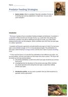 Optimal Foraging / Predator Feeding Strategies