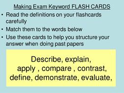 exam keyword flashcards.ppt