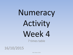 numeracy activity 4 (7 times table).pptx