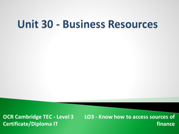 Unit 30 - LO3 - Know how to access sources of finance.pptx