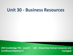 Unit 30 - LO1 - Know how human resources are managed.pptx