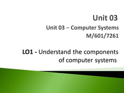 Unit 03 - LO1 - Understand the Components of Computer Systems.pptx