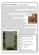 World War One Guided Reading - Soldier's Story
