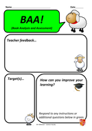 BAAs book feedback sheets