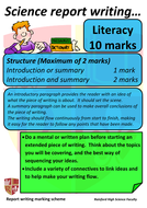Science report writing marking scheme poster.docx