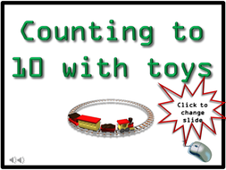 Counting with Toys, Dots and Numbers to 10 by mike ennington