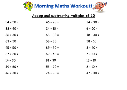 Year 2 mental maths skills by Joanneknight Teaching Resources Tes – Maths Year 2 Worksheets