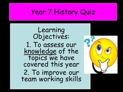 Year 7 - End of Year Quiz