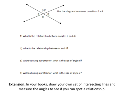 Capitalization Worksheets For 4th Grade Pdf Angles In Parallel Lines By Rebeckyxo  Teaching Resources  Tes Common Core Mathematics Curriculum Worksheets with Xls Worksheet Pdf  First Grade Context Clues Worksheets Excel