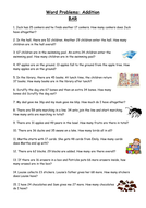 YEAR 3 COLUMN ADDITION WORD PROBLEMS by abegum5002 ...