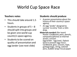 World Cup Space Race!
