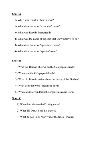 Worksheets Work Sheet Of Evolution Course evolution by sameena171 teaching resources tes