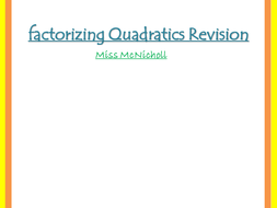 Factorizing Quadratics - 1 or 2 brackets?