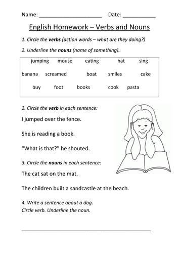 Verb Worksheet For Grade 3 - Laptuoso