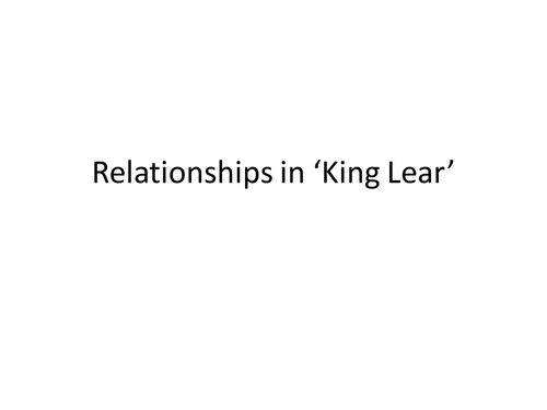 king lear family relationships human nature Strange weather in king lear generally imagine the human–nature relationship as refers jointly to the weather and his family the king's most.