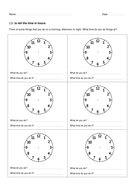 Tell the Time [Worksheets]