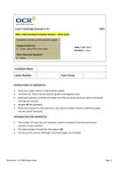 ICT Mock Exam Papers - Cambridge Nationals R001 Mock Exam June 2014